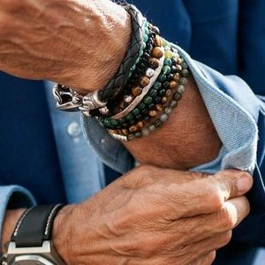 Men's Picture Jasper Natural Stone Bracelet